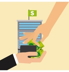 stock exchange vector image