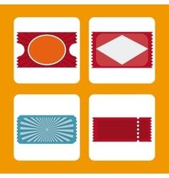 Cinema tickets design vector image