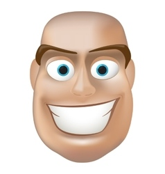 Happy man face vector image