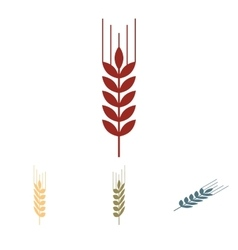 Wheat icon set isometric effect vector