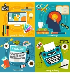 Graphic deign copywriting creativity and vector