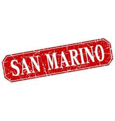 San marino red square grunge retro style sign vector
