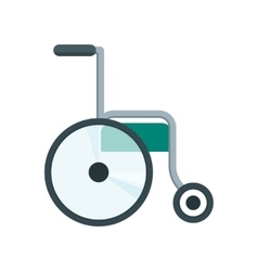 Health care wheelchair vector