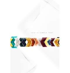 Glass glossy arrow motion background vector