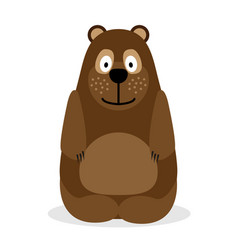 Cartoon of a bear vector