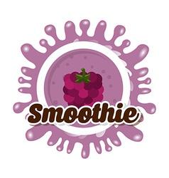 Delicious smoothie vector