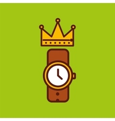 Fathers day coffee and watch icon design vector