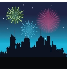 firework celebration explosion night icon vector image