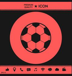 football symbol soccer ball icon vector image