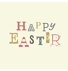 happy easter vintage lettering vector image