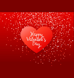 Lovely red valentines day greeting design with vector