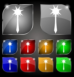 Mace icon sign set of ten colorful buttons with vector