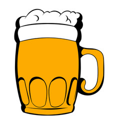 Mug of beer icon cartoon vector