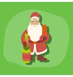 paper sticker on stylish background Santa Claus vector image vector image