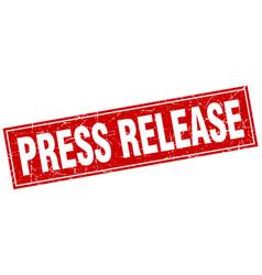Press release square stamp vector