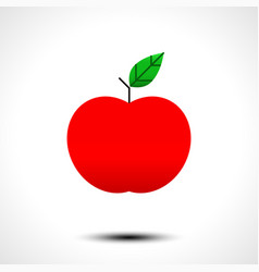 red apple icon isolated on white background vector image vector image