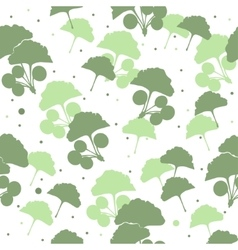 Seamless pattern branches and leaves of ginkgo vector