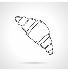 Sweet croissant flat line design icon vector image