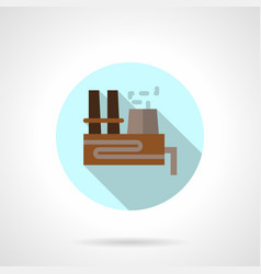 Thermal power station flat blue round icon vector