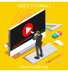 Video tutorial isometric people vector