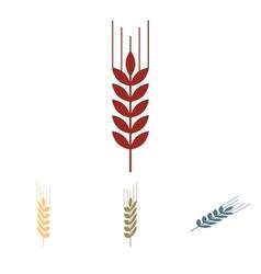 Wheat icon set isometric effect vector