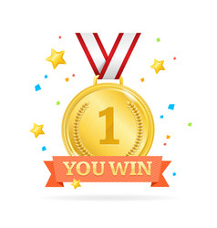 You win success achievement concept vector