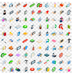 100 dialog icons set isometric 3d style vector