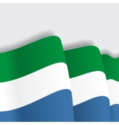 Sierra leone waving flag vector