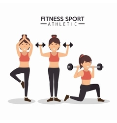 Women fitness sport athletics design vector