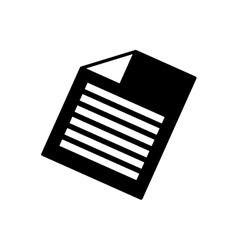 sheet document symbol vector image