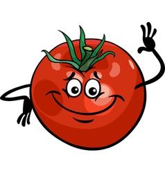 cute tomato vegetable cartoon vector image
