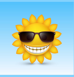 smiley sun glasses vector image
