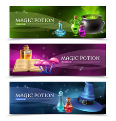 Magic potion banners vector