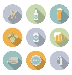 Beer flat icons vector