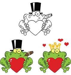 Frog cartoons vector image