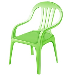A green plastic chair vector