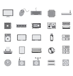Gray computer device icon design vector
