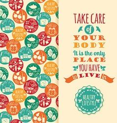 Healthy lifestyle vector