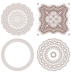 Henna tattoo doodle elements on white background vector