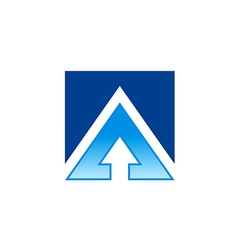 Square arrow business finance logo vector