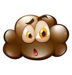 Facial expression on brown cloud vector
