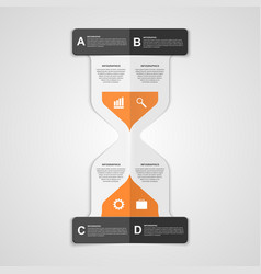 Infographics hourglass design paper style concept vector