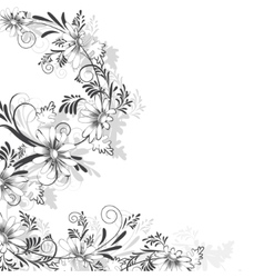 Floral pattern of daisies vector
