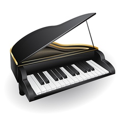 With black piano musical instrument vector