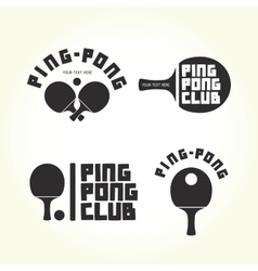 Ping-pong club isolated logotypes vector