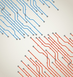 Abstract background of metro lines with arrows vector