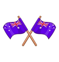 Australia flags icon cartoon style vector image