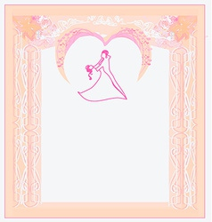 Ballroom dancers - invitation vector image vector image
