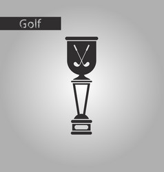 black and white style icon golf cup vector image