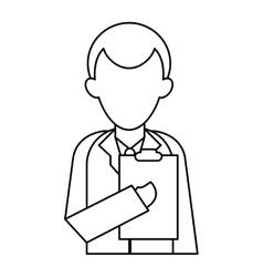 Character doctor clipboard uniform medicine vector
